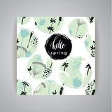 Artistic creative Hand Drawn spring  Design Stock Images