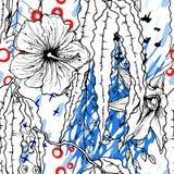 Artistic Creative Tropical Black White Modern royalty free illustration
