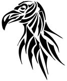 Artistic crow tattoo il black isolated. A tribal tattoo representing a crow. An image that can be used also as decoration or logo Stock Photos