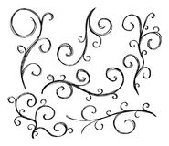 Artistic curl elements Royalty Free Stock Images
