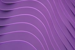 Artistic curved lines of the piled up purple color plastic bowls, for pattern. And background royalty free stock photography