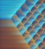 Artistic 3D Abstract Colored Structure royalty free illustration