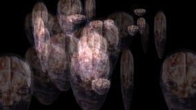 Artistic animation of human brains