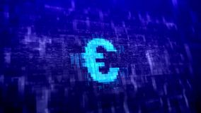 Abstract blue euro sign Stock Images