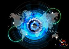 Artistic 3d Rendering Illustration Of An Energetic World Map royalty free stock image