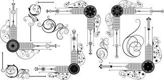 Artistic Decorative Corner Designs Royalty Free Stock Photo