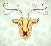 Artistic deer cartoon design Royalty Free Stock Photography