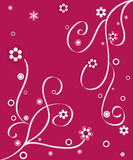 Artistic design. S and flowers on pink background Royalty Free Stock Image