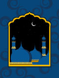 Artistic design background with mosque. Artistic design background for eid mubarak celebration stock illustration