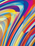 Artistic design background with twirl stripes Stock Images