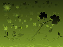 Artistic design with clover flourish 17 march Stock Photos