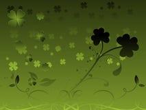 Artistic design with clover flourish 17 march Stock Photos