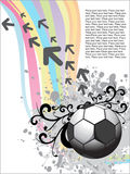 Artistic design with football Stock Images