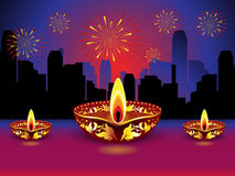 Artistic detailed diwali background. Vector illustration Stock Photography