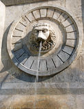 Artistic details of the old city fountain, Belgrade downtown, Serbia Stock Photo