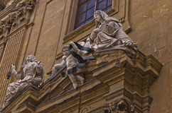 Artistic details on San Gaetano church in Florence, Tuscany Royalty Free Stock Photography