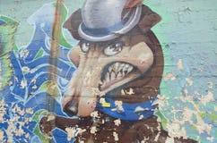 Artistic dog graffiti Stock Images