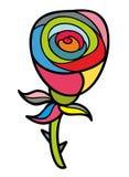 Artistic doodle rose. Stock Photos