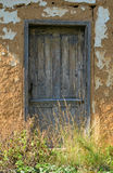 Artistic door of an old country house Stock Image