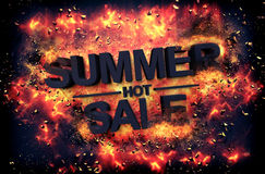 Artistic dramatic poster for - HOT SUMMER SALE Royalty Free Stock Photos