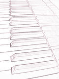 Artistic draw of a piano keyboard Stock Photo