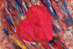 Artistic, drawn heart royalty free stock photo