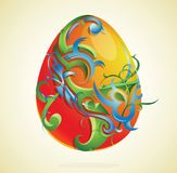 Artistic easter egg Stock Image