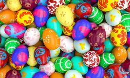 Artistic easter eggs Stock Photo