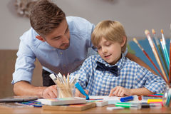 Artistic education of creative kid Royalty Free Stock Image