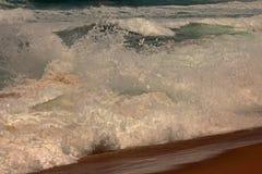ARTISTIC EFFECT ON FOAM OF A WHITE WAVE SPLASHING UP stock photo
