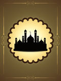 Artistic eid background design with mosque. Royalty Free Stock Photography
