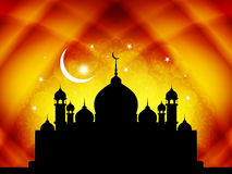 Artistic eid background design with mosque. Stock Photos