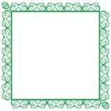 Artistic elegant colorful frame isolated Royalty Free Stock Photography