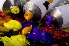 Artistic equipment Stock Images