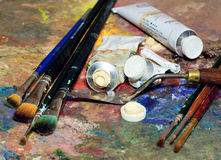 Artistic equipment Stock Photography