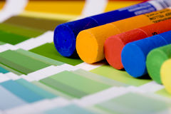 Artistic equipment and color chart Stock Image