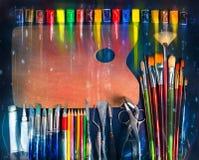 Artistic equipment Royalty Free Stock Photo