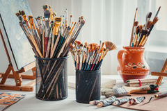 Artistic equipment. Royalty Free Stock Image
