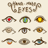 Artistic eyes vector Royalty Free Stock Photography