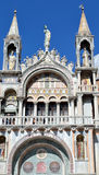 The artistic facade of the famous Basilica di San Marco Royalty Free Stock Photography