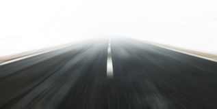 Artistic fast road driving Royalty Free Stock Image