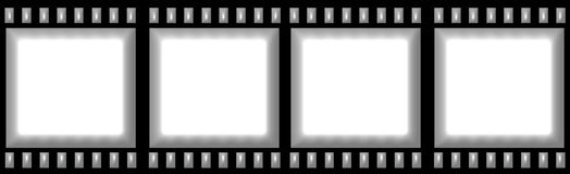 Artistic Film Strip. Isolated in white Royalty Free Stock Photos