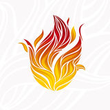 Artistic fire flame. Abstract artistic fire flame card illustration stock illustration