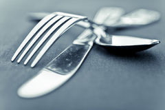 Artistic Flatware. Very Shallow Depth Of Field stock images