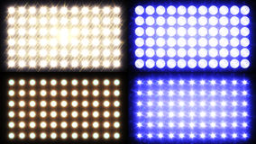 Artistic Flood Lights. Rendered in four variations on black background royalty free stock photos