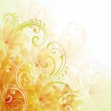 Artistic floral background Stock Images