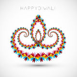 Artistic with floral colorful decoration for diwal Royalty Free Stock Images