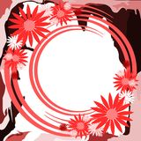 Artistic Floral decoration on abstract background Stock Image