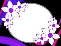 Artistic Floral decoration on abstract background Royalty Free Stock Photos