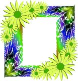 Artistic Floral frame isolated. Elegant and colorful floral frame, usable as label or decoration Royalty Free Stock Photo